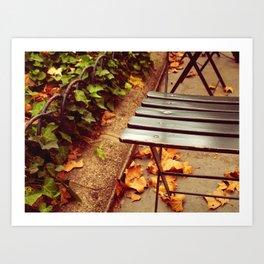 bryant park cafe chair Art Print