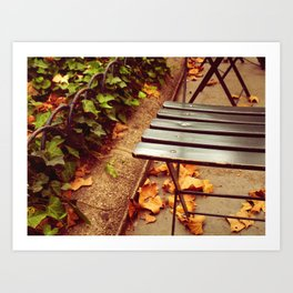 bryant park cafe chair Art Print