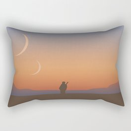 Two Moons Rectangular Pillow