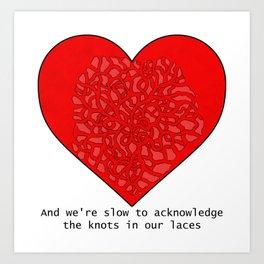 Heart It Races Art Print