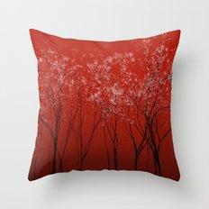 Trees redwine Throw Pillow