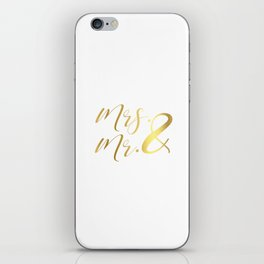 Mr Mrs Love Prints. Wedding Art Prints. Real Gold or Silver Foil Print. His and Hers Wall Art. iPhone Skin