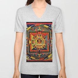 Buddhist Mandala Amitayus Buddha Amitabha Unisex V-Neck