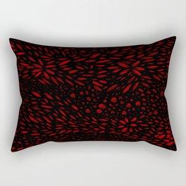 Foliage (Black on Red Variant) Rectangular Pillow