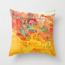 Summer on Mykonos Throw Pillow