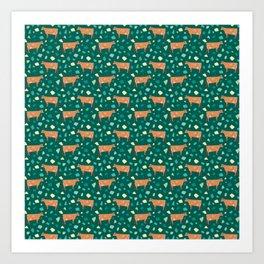 Jersey Terrazzo // Forest Green Art Print