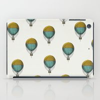 hot air balloons iPad Cases featuring Hot Air Balloons by Juste Pixx Designs