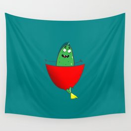Cucumber in your pocket Wall Tapestry