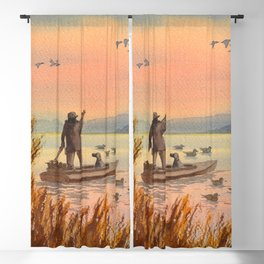 Duck Hunting On A perfect Day Blackout Curtain