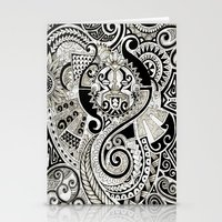 maori Stationery Cards featuring Maori tribal design by Noah's ART