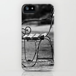 Solitary Park Bench iPhone Case