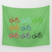 racing Wall Tapestries featuring Racing bicycle by Fabian Bross