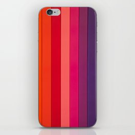 vertical lines colors iPhone Skin