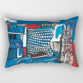 A depiction of Birmingham, UK Rectangular Pillow