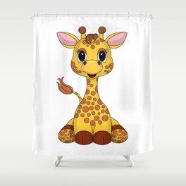 Gentle Giraffe Shower Curtain