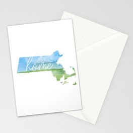 Massachusetts Home State Stationery Cards