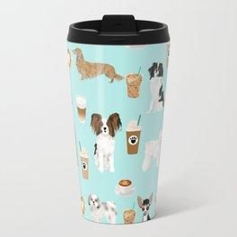 Coffee Dogs cute miniature dog breeds chihuahua bichon terrier Shih tzu pomeranian latte coffees Travel Mug