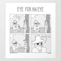 Moonbeard - Eye for an Eye Art Print