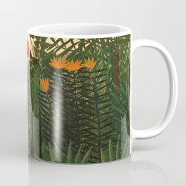 "Henri Rousseau ""Tropical Landscape - subtitled An American Indian Struggling with a Gorilla"" Coffee Mug"