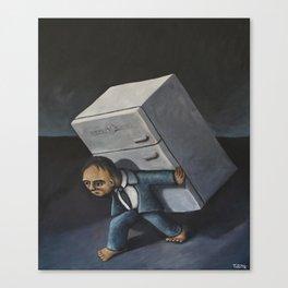 Refrigerator Crucifixion Canvas Print