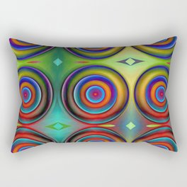 Multicolored Pattern Circles 1 Rectangular Pillow