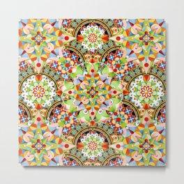 Circus Pastel Mandala Metal Print