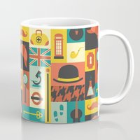 sherlock Mugs featuring Sherlock by Ariel Wilson