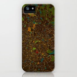 Bangalore old green map iPhone Case
