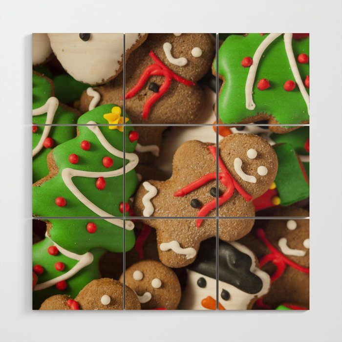 Delicious Christmas Cookies Wood Wall Art By Newburydesigns