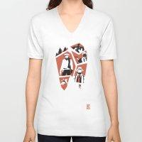 django V-neck T-shirts featuring Django Unchained by Lechaftois Boris (LBö)