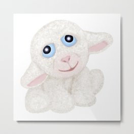 Little Spring Lamb Metal Print