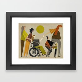Women March Framed Art Print