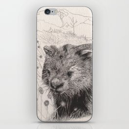 Path to wombat pool iPhone Skin