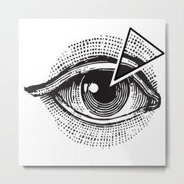 Illuminaty eye Metal Print