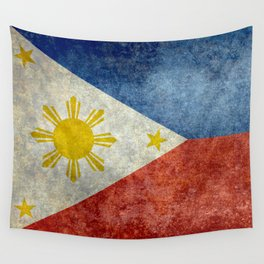 Philippines Grungy flag Wall Tapestry
