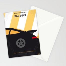 No627 My Bad Boys minimal movie poster Stationery Cards
