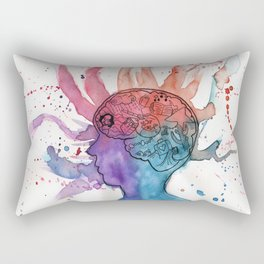 This Is Your Brain On Inspiration Rectangular Pillow