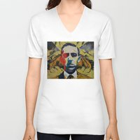 lovecraft V-neck T-shirts featuring Lovecraft by Michael Creese