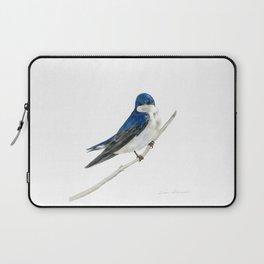 Blue Boy - Tree Swallow by Teresa Thompson Laptop Sleeve