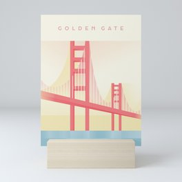 Golden Gate Travel - Minimal Art Deco Mini Art Print