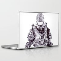master chief Laptop & iPad Skins featuring Master Chief by DeMoose_Art