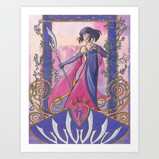 Princess Saturn Art Print