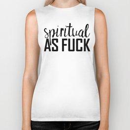 spiritual as fuck Biker Tank