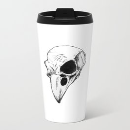 Raven skull Metal Travel Mug