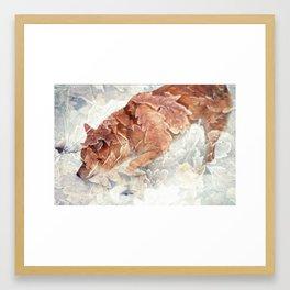 Leafy Shiba. Framed Art Print