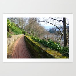 Road By The River Dee Art Print