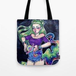 Spaceface Tote Bag