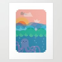 under the sea Art Prints featuring Under Sea by Loop in the mind