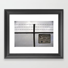 Barbed wire love Framed Art Print