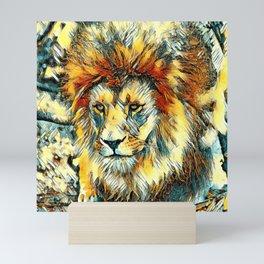 AnimalArt_Lion20170601_by_JAMColorsSpecial Mini Art Print